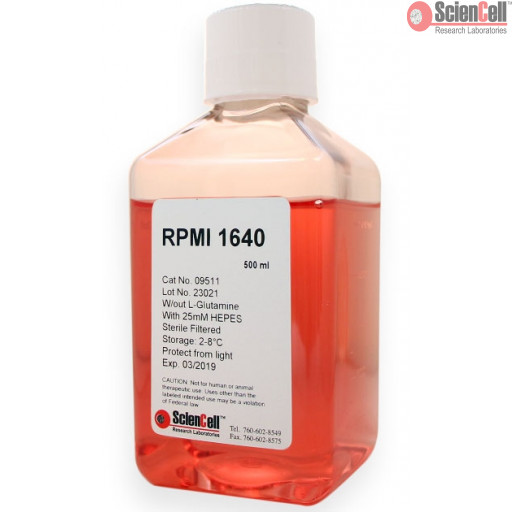 RPMI 1640 without L-Glutamine, with 25 mM HEPES